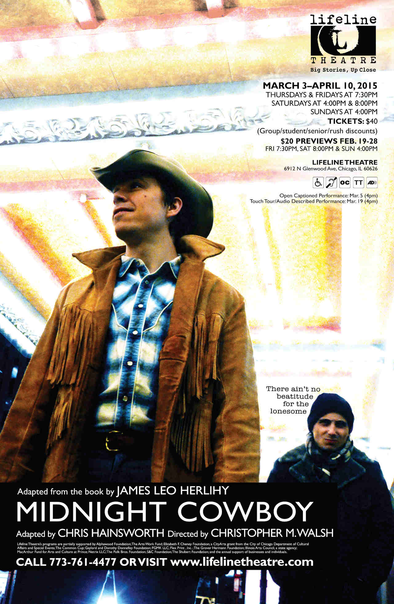 MIDNIGHT COWBOY (Lifeline Theatre, 2016)