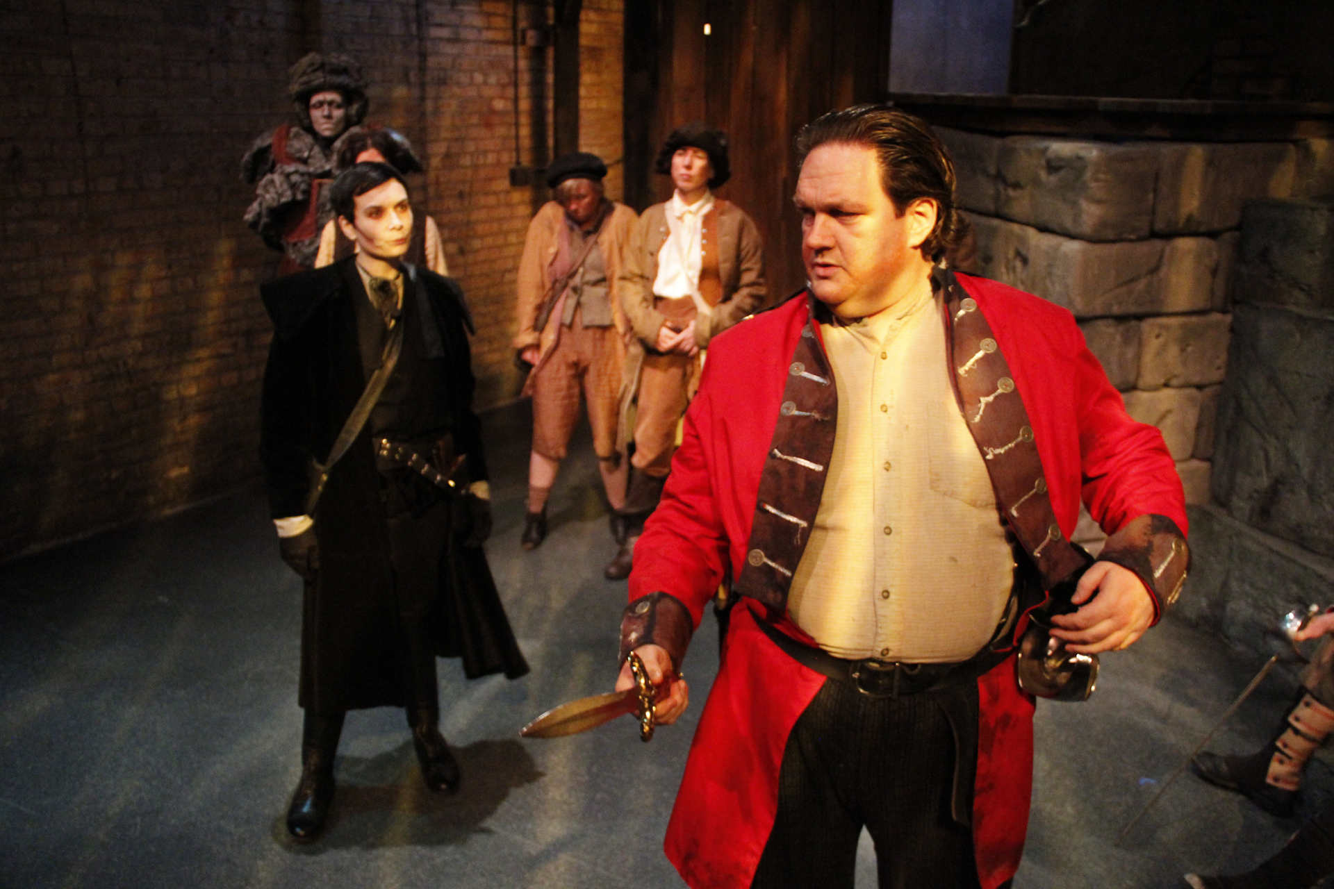 MONSTROUS REGIMENT (Lifeline Theatre 2014 - photo by Kelsey Jorissen)